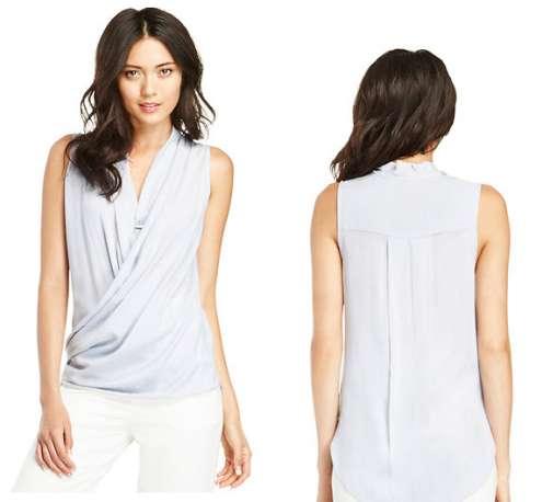 faux-wrap-woven-blouse